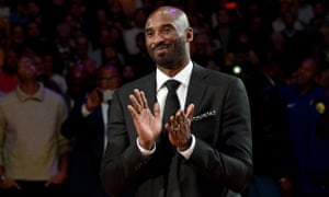 ae6444957 Kobe Bryant smiles during Monday s half-time ceremony as both his No8 and  No24 jerseys are retired. Photograph  Kevork Djansezian Getty Images