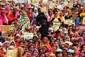 Muslim women protest in Assam against India's new citizenship law