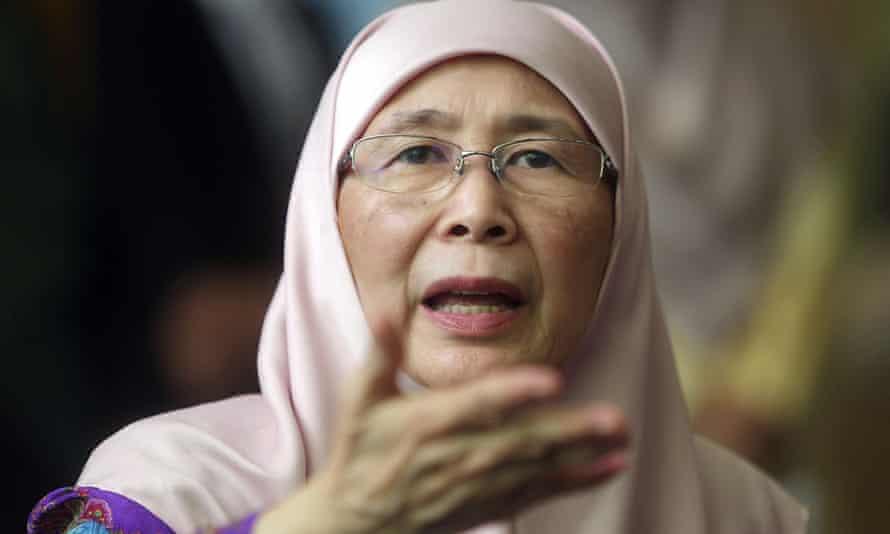 Malaysian deputy prime minister Wan Azizah Wan Ismail