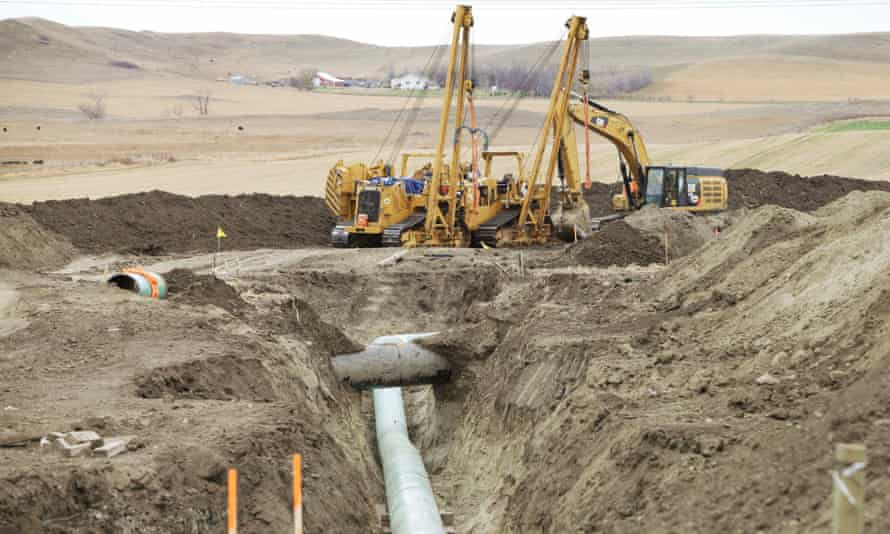 The Dakota Access pipeline construction site. Local tribes fear it will contaminate drinking water.