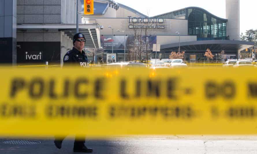 Police tape at the scene of Toronto van attack