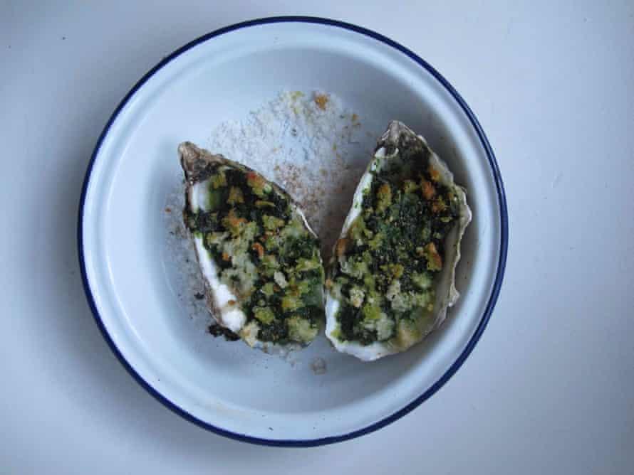 Simon Hopkinson's oysters Rockefeller.