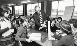 The way we were: a secondary school in King's Lynn, Norfolk, in 1979.