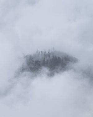 Misty mountains, Bhutan