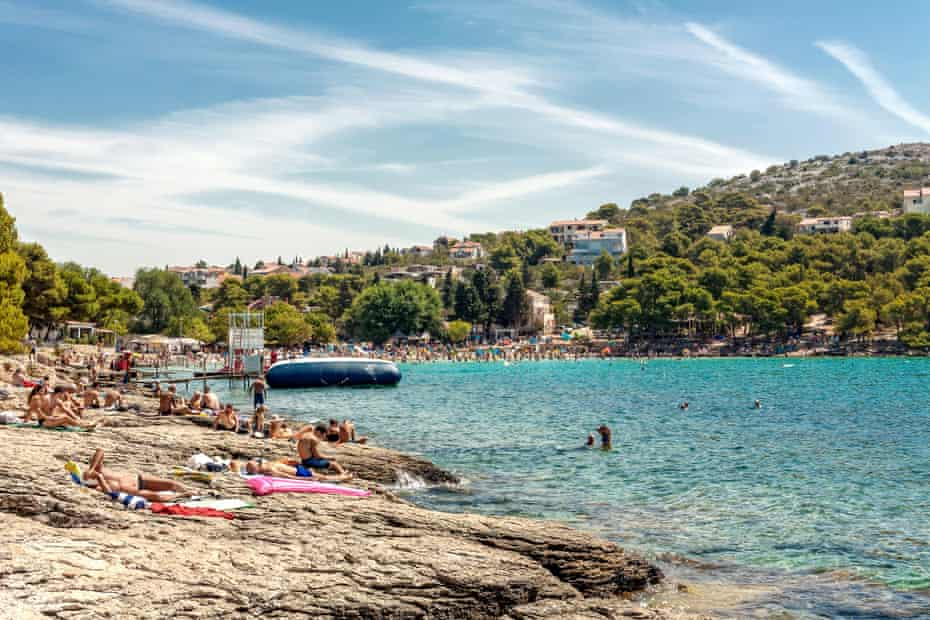 Slanica beach on Murter island.