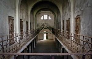 Interior of Râmnicu Sărat prison in Romania