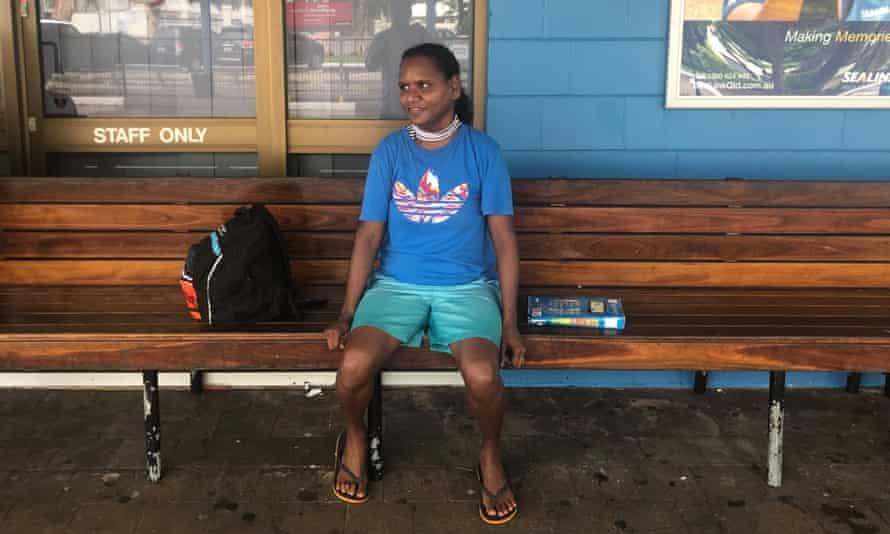 Sophia Barry had to return to Palm Island from Townsville after the floods because she wasn't considered eligible for disaster support funds.