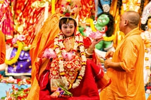 Kumari Puja at Belur Math This is usually observed on the seventh day of the festival and during this ritual, an unmarried girl is worshipped symbolically as goddess Durga.
