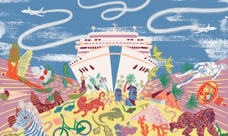 CRUISE SHIP tourism illustration by camilla perkins
