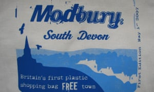 Modbury in Devon became the first in Britain to ban plastic bags altogether in 2007