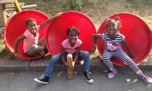 Children play in Lambeth's Triangle playground.