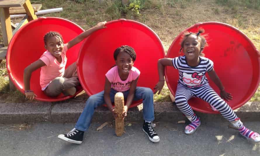 Children play in Lambeth's Triangle playground.