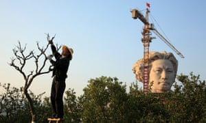 The 32ft-high statue of Mao Zedong in his youth in Changsha, Hunan.