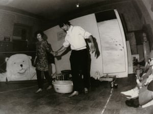 """Happening Week at LIDL-Room: """"Piece of Honey for Couples"""" at Blücherstrasse in Düsseldorf, 16 May 1968"""