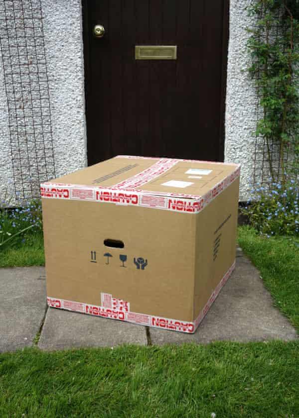 A large parcel on a doorstep