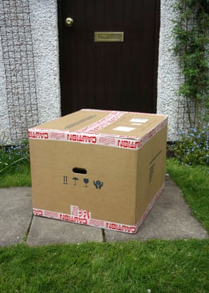A large parcel on a doorstep