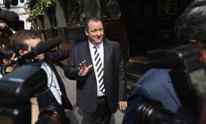 Mike Ashley on his way to attend a select committee hearing in London.