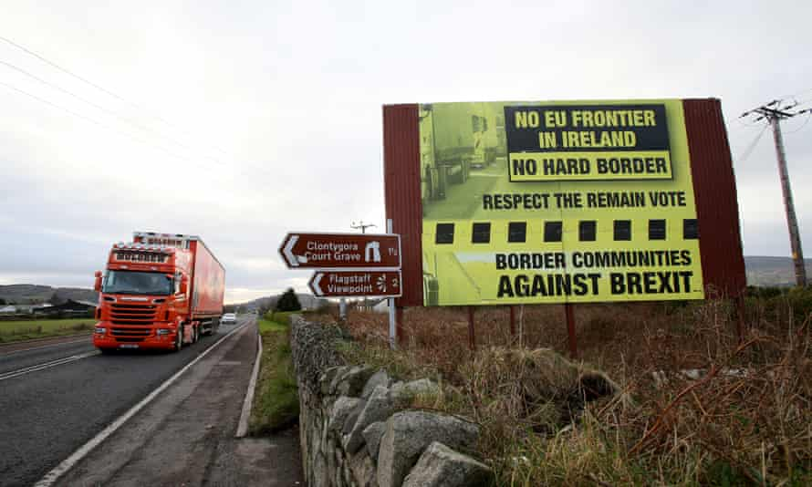 Traffic crosses the border into Northern Ireland from the Irish Republic.