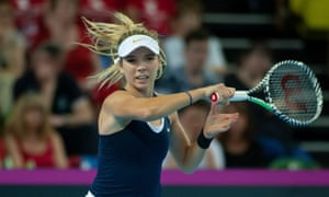 Katie Boulter injured her back in the Federation Cup win over Kazakhstan last month