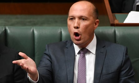 Immigration minister Peter Dutton during question time in house of representatives at parliament house in Canberra, 30 May 30 2017.