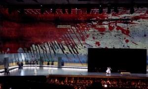 Richard Strauss's opera Elektra at Salzburg's music venue Felsenreitschule.