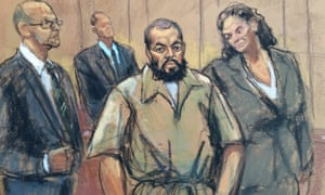 Ahmad Khan Rahami is shown in this courtroom sketch in New York, New York on Thursday.