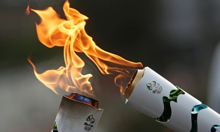 Olympic torches in Brazil