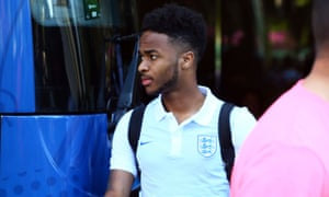 England's Raheem Sterling leaves the team hotel in Nice after the Euro 2016 last-16 defeat to Iceland.