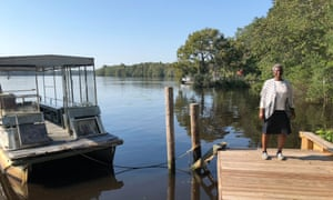 The boat Laura Herriott use to cross the Waccamaw river needs a new battery so she is keeping it docked on the mainland.