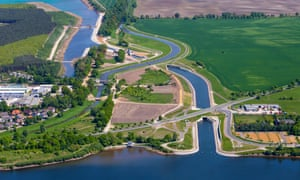 Aerial view of the Lusatian Lakeland.