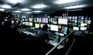 A production suite at Sky's Television HQ building in Isleworth.