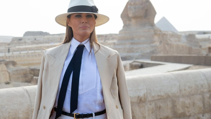 18301a31856 We need to talk about Melania Trump s Out of Africa wardrobe ...