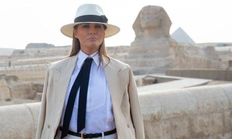 Melania Trump praises Kavanaugh on Egypt trip but says 'I have my own voice'