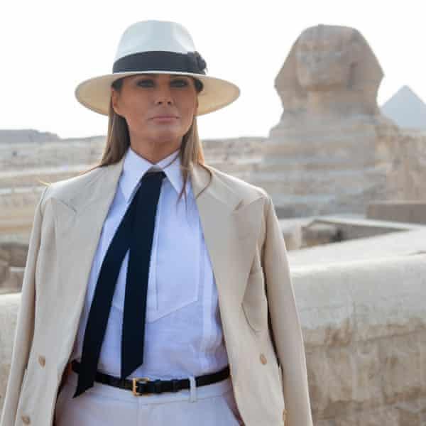 Melania Trump in Egypt, October 2018