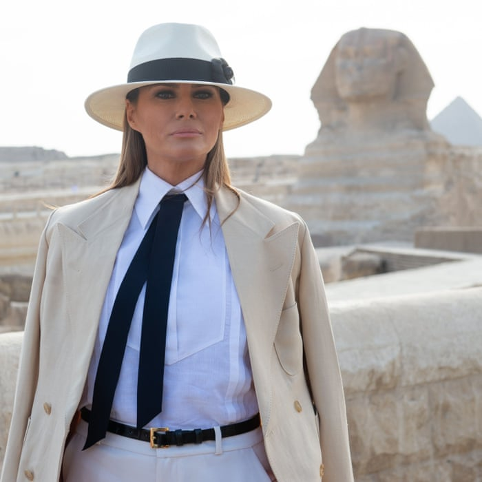 4c9f94cfc We need to talk about Melania Trump's Out of Africa wardrobe | Fashion |  The Guardian