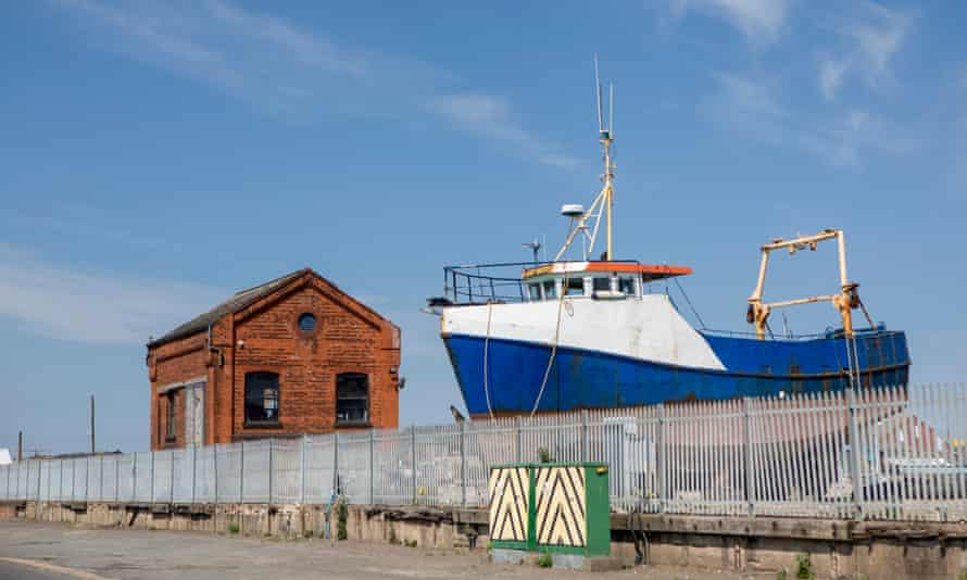 Grimsby docks.