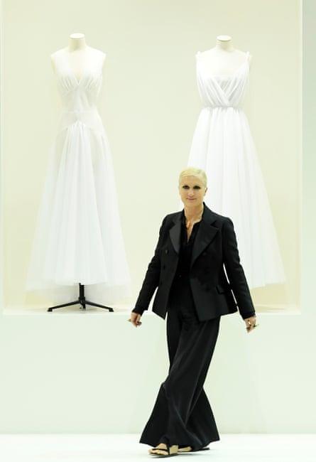 Maria Grazia Chiuri on the catwalk.
