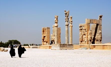 Xerxes' Gateway, also known as the Gate of all Nations, at Persepolis, near Shiraz, Iran.