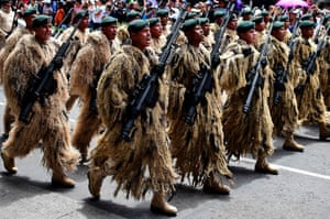 Mexico City, Mexico. A parade commemorating Mexico's annual Independence Day