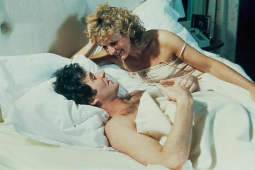 Glenn Close and Kevin Kline in The Big Chill
