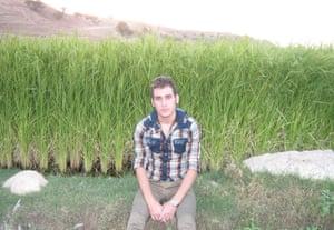 Fariborz Karami, 26, on Nauru.