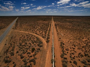 The pipe which carries the water supply from Menindee lakes NSW to Broken Hill