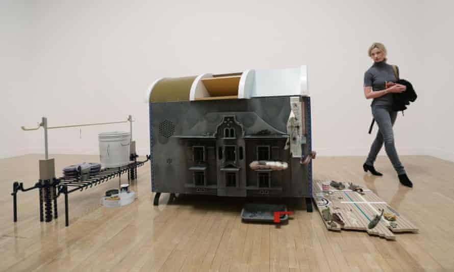 Helen Marten's work on display at Tate Britain.