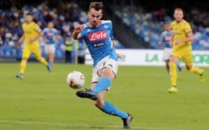 Fabián Ruiz in action for Napoli against Verona in October.