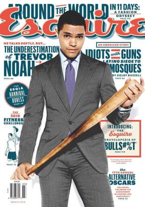Trevor Noah on the cover of Esquire in March 2016.