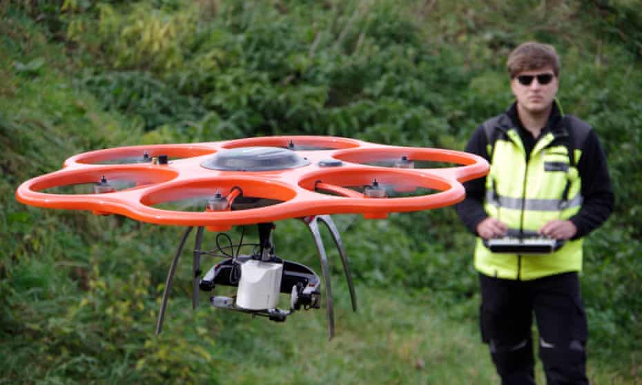 Drone being used in Germany to detect metals
