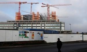 Carillion's Midland Metropolitan Hospital under construction site in Smethwick.