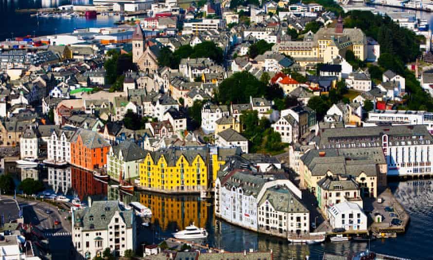 Norwegian town of Ålesund