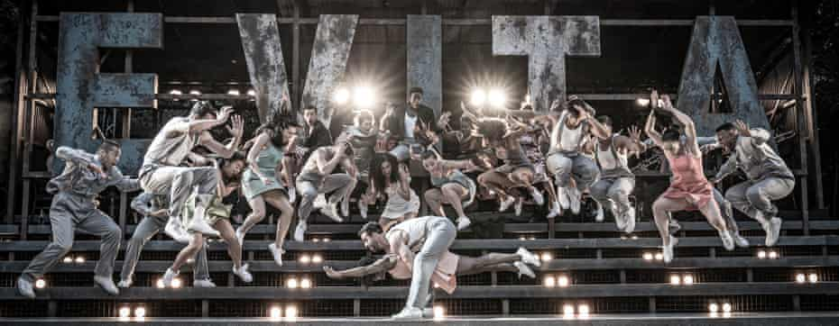 Evita at Regent's Park Open Air Theatre Samantha Pauly as Eva Perón and Company. Photo Marc Brenner (2)