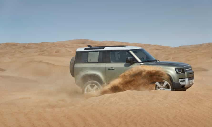 The new Land Rover Defender mixes it up among the dunes.